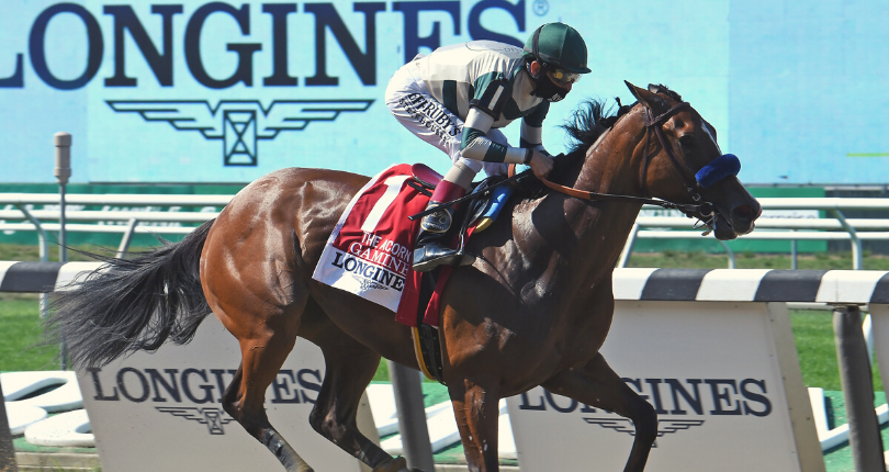 Gamine records fastest-ever Longines Acorn (G1) time in 18 3/4-length romp