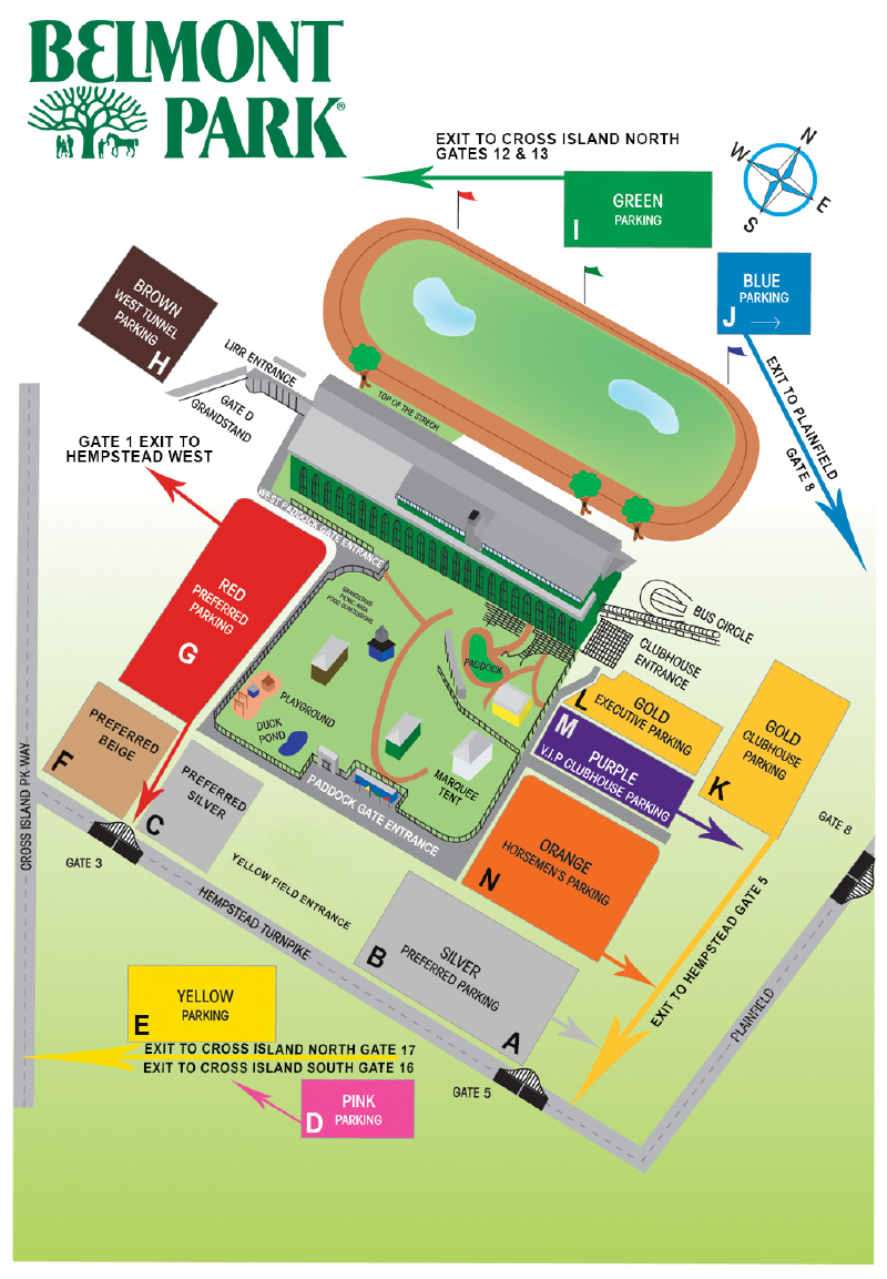 Image result for belmont stakes parking