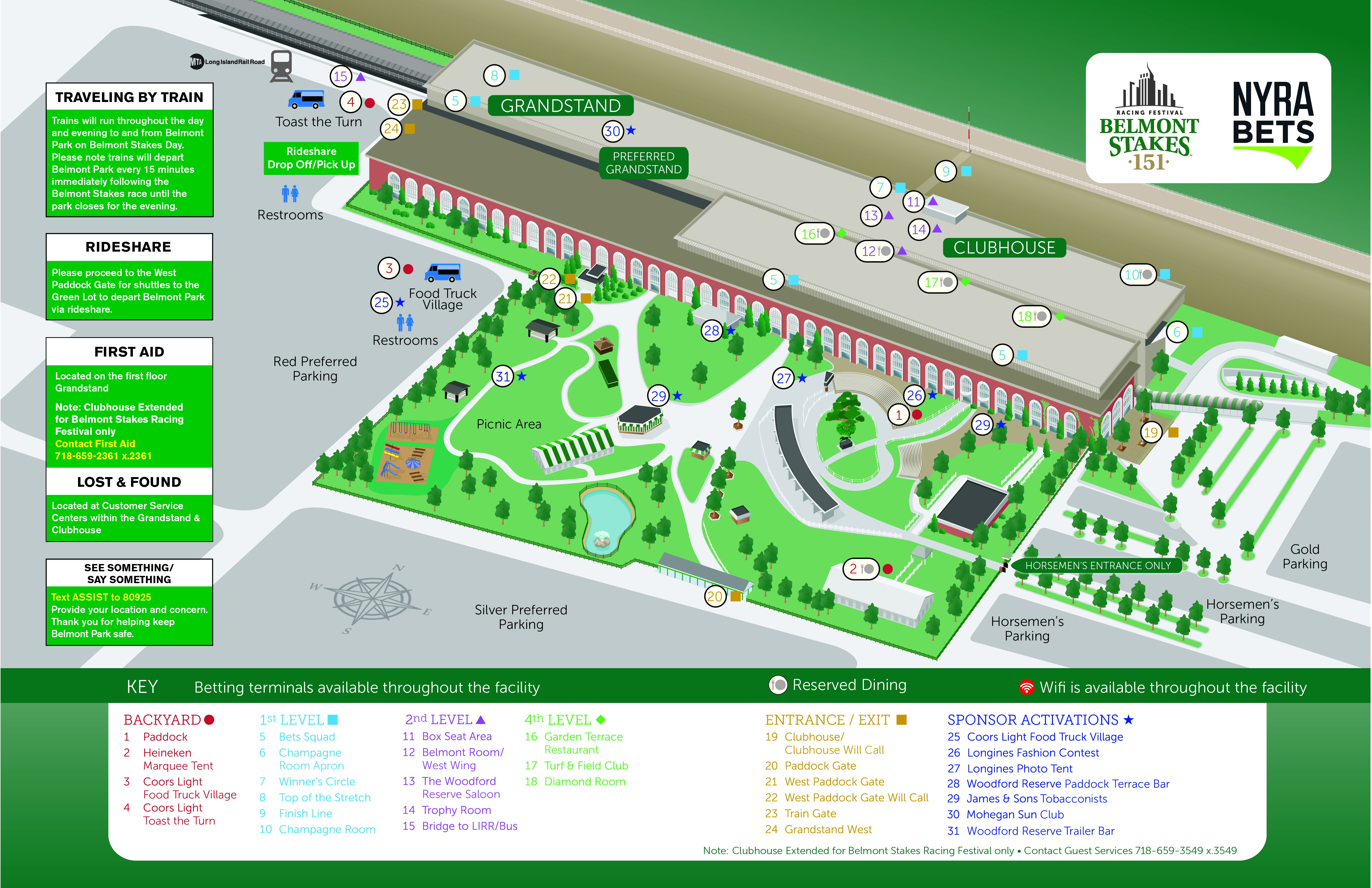 Grounds Seating Map Belmont Stakes