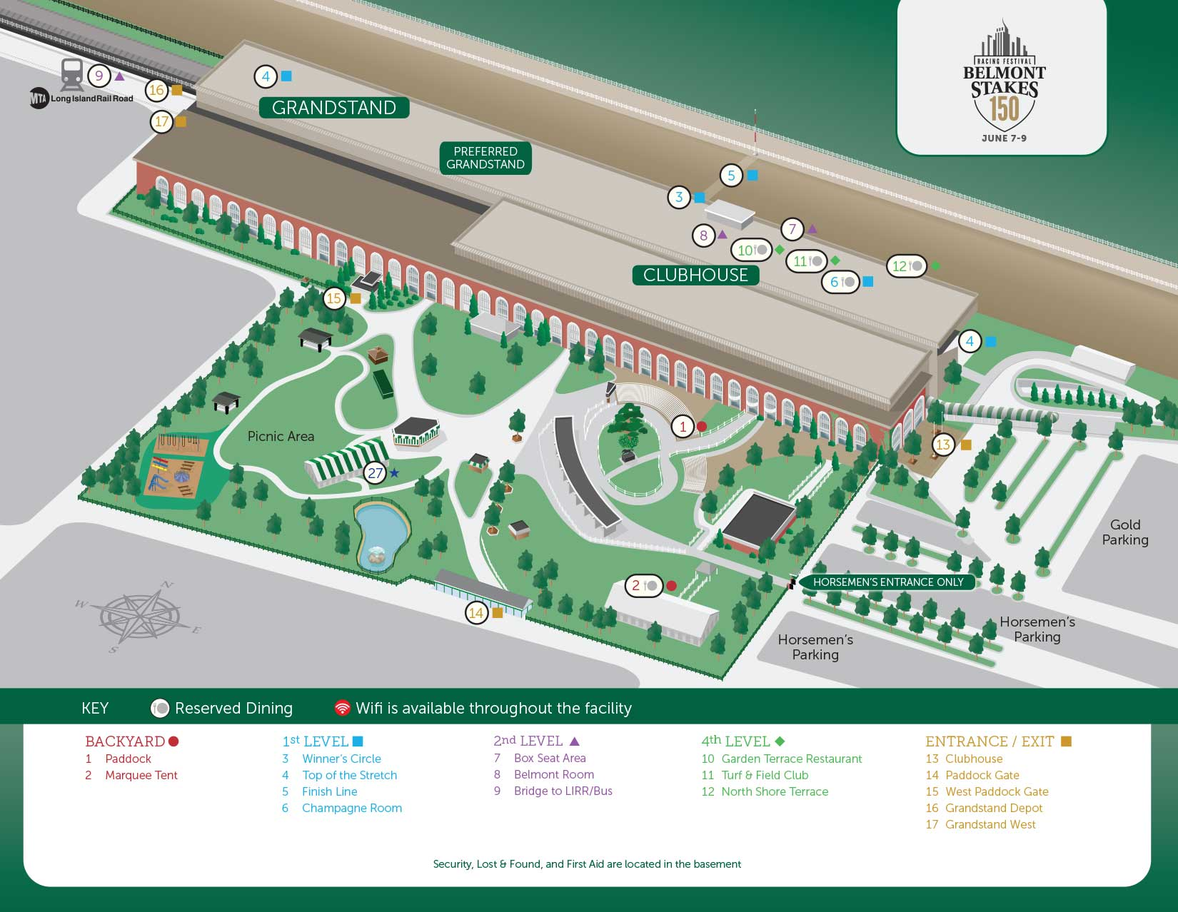 BSRF18_Large_Map grounds & seating map belmont stakes